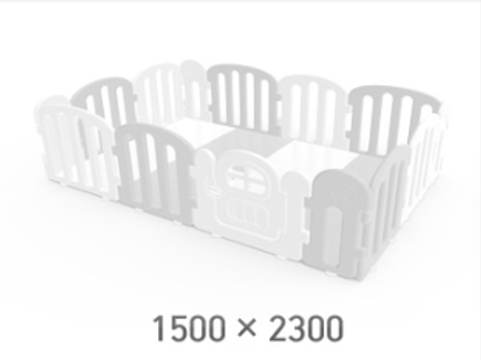 iFam First Baby Playpen for Your Playmat Size: 1.5 x 2.3m
