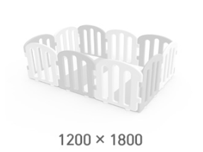 iFam First Baby Playpen for Your Playmat Size: 1.2 x 1.8m