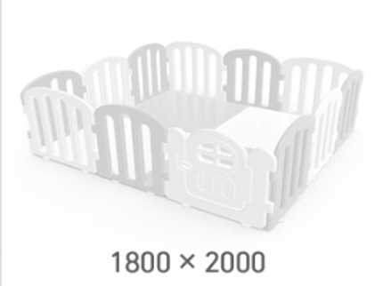 iFam First Baby Playpen for Your Playmat Size: 1.8 x 2.0m