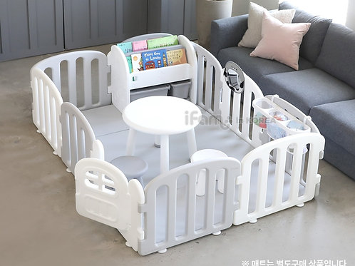 My First Babyroom Set (Front:Gray, Back:White)-1.4m x 2.0m