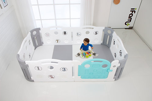 Deluxe Learning Playpen - White/Gray