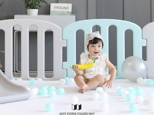 My First Babyroom Set: Mat Color (white/gray, white/pink)-1.4m x 2.0m