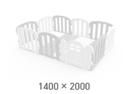 iFam First Baby Playpen for Your Playmat Size: 1.4 x 2.0m