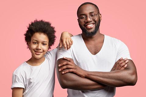 african-american-man-child-white-t-shirt