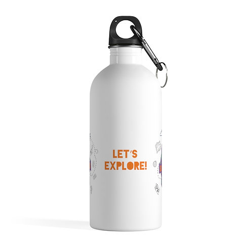Let's Explore! Stainless Steel Water Bottle