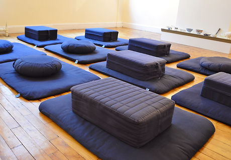 Meditation Cushions in Meditating Room f