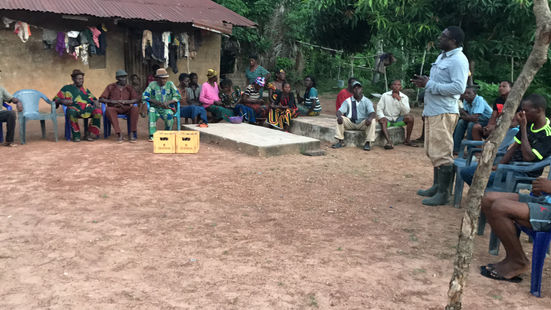 DW Agriculture management in consultation meeting with community leaders in Ogoja Local Government Cross River State