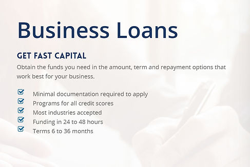 Solid Number Business Loans.