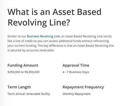 Solid Number Asset Based Rev