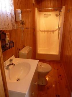 Lavender Cabin Bathroom