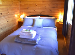 Lavender Cabin Main Double Bedroom