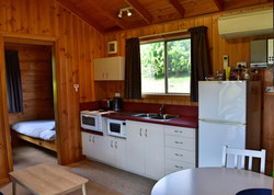 Lavender Cabin Kitchenette