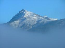 Snow Covered Mountain Peak View
