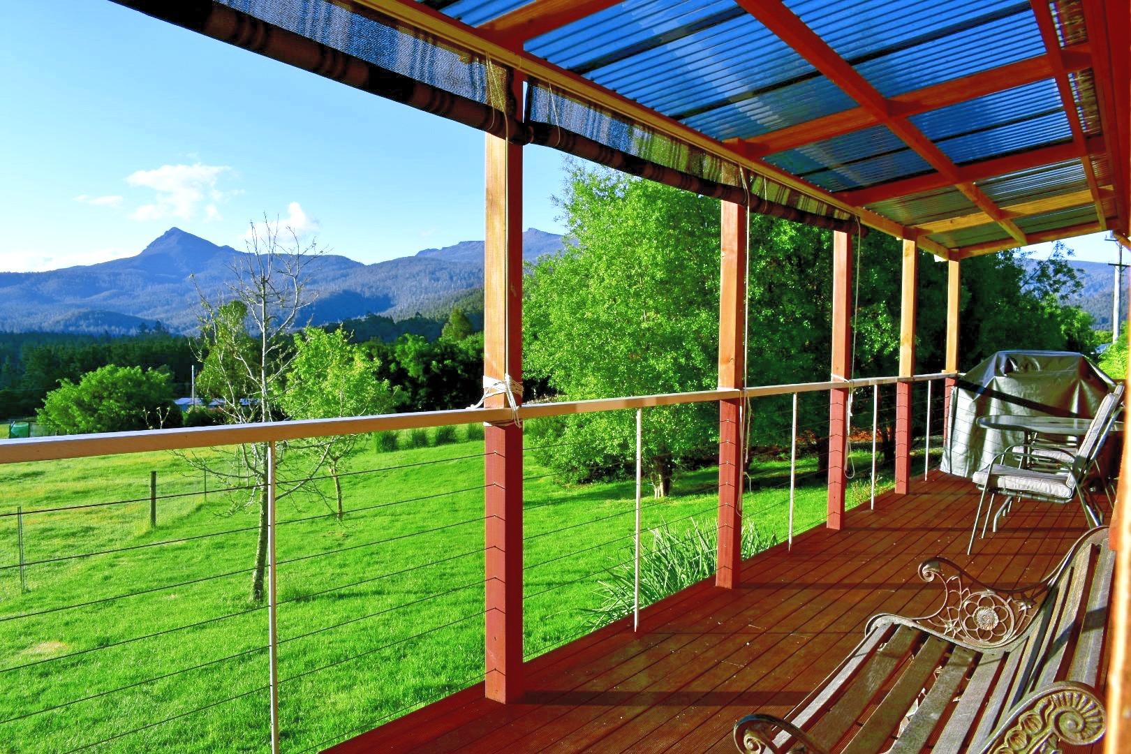 Lavender Cabin Deck Views