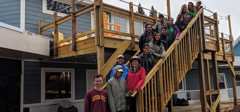 Northland College youth group at the Apostle Islands Bunkhouse