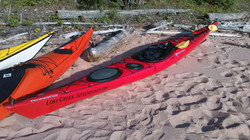 red tempest on beach