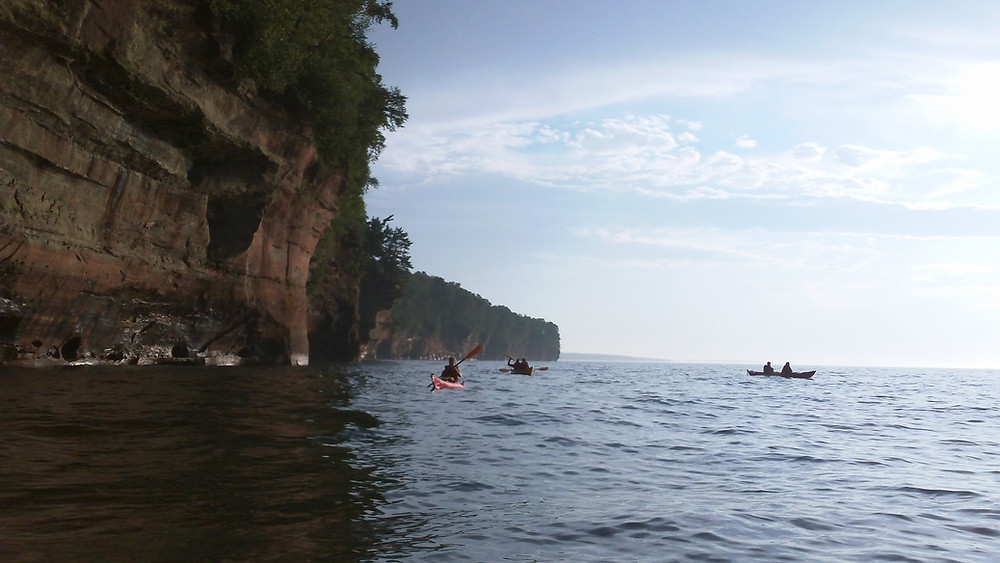 A view of the mainland sea caves