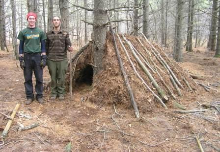 2 person debris hut-web