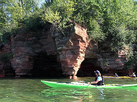 Apostle Islands camping, sea kayaking