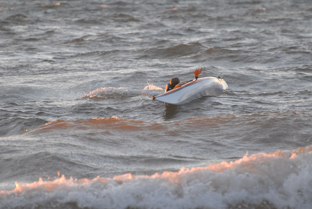 A sea kayaker has capsized. Now what?