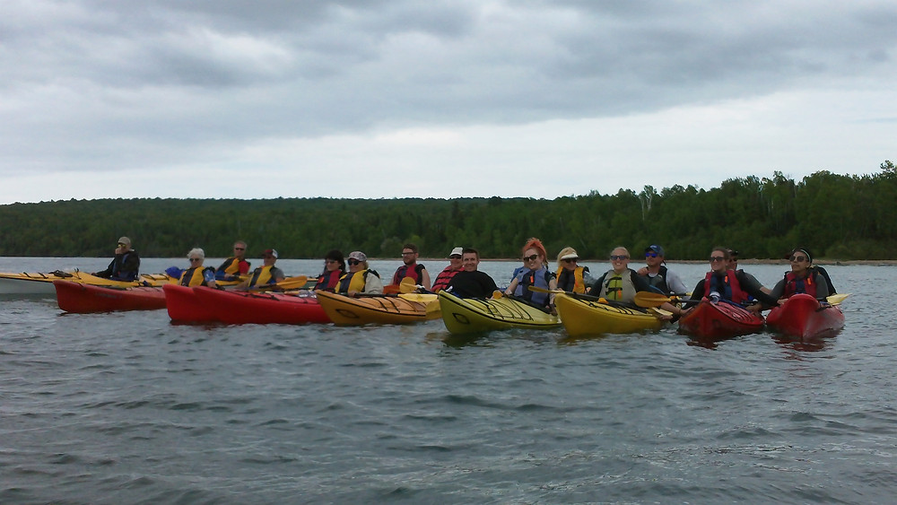 Large groups on the water can be a challenge...or a great safety buffer