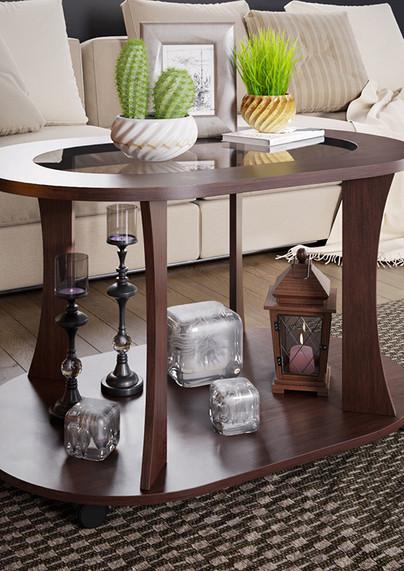 Стол журнальный Доминик 4 со стеклом BM