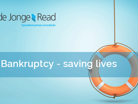 Bankruptcy - saving lives!