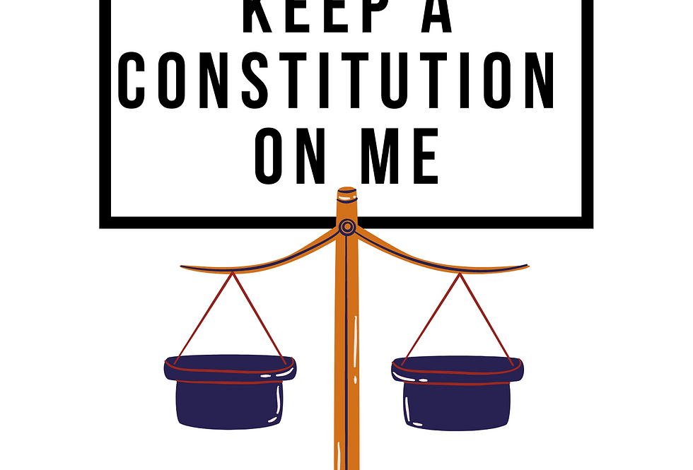 Minimal T-Shirt: KEEP A CONSTITUTION ON ME