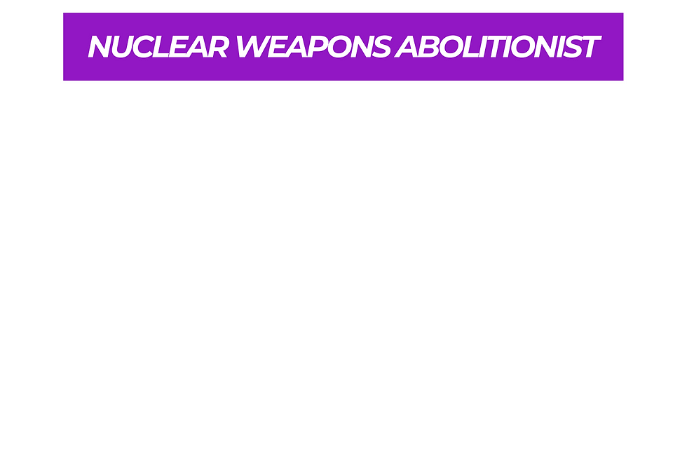 T-Shirt: PURPREME NUCLEAR WEAPONS ABOLITIONIST