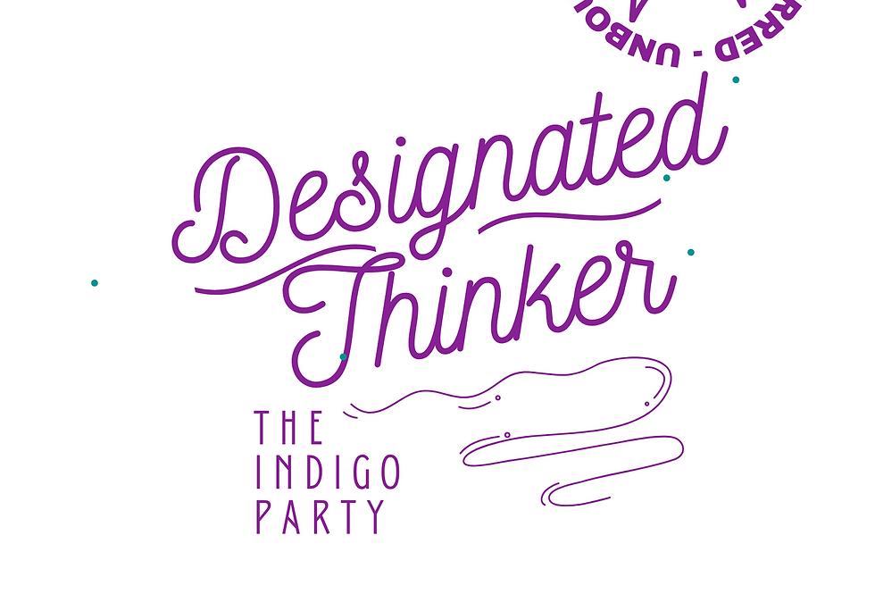 T-Shirt: Indigo- DESIGNATED THINKER