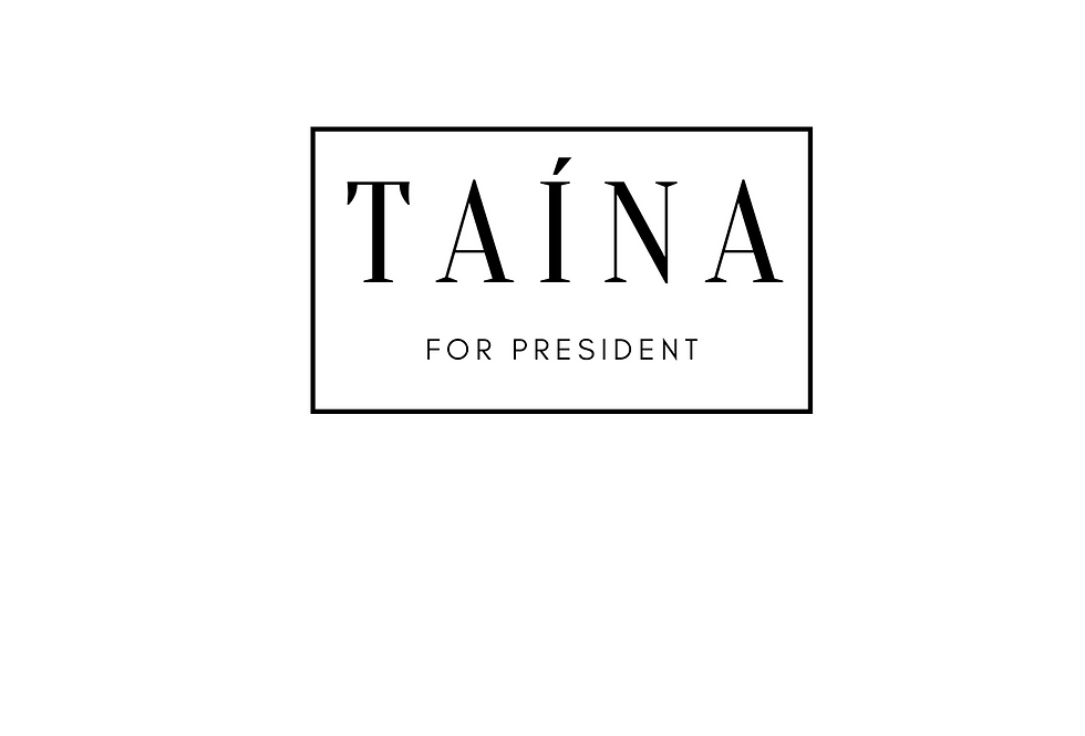 Minimal T-Shirt: Taína for President