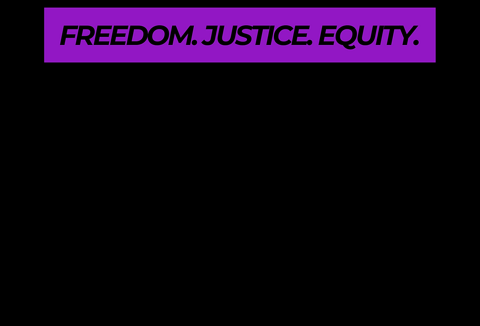 T-Shirt: PURPREME FREEDOM, JUSTICE, EQUITY