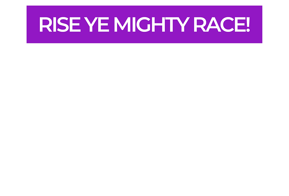 T-Shirt: PURPREME Rise Ye Mighty Race!