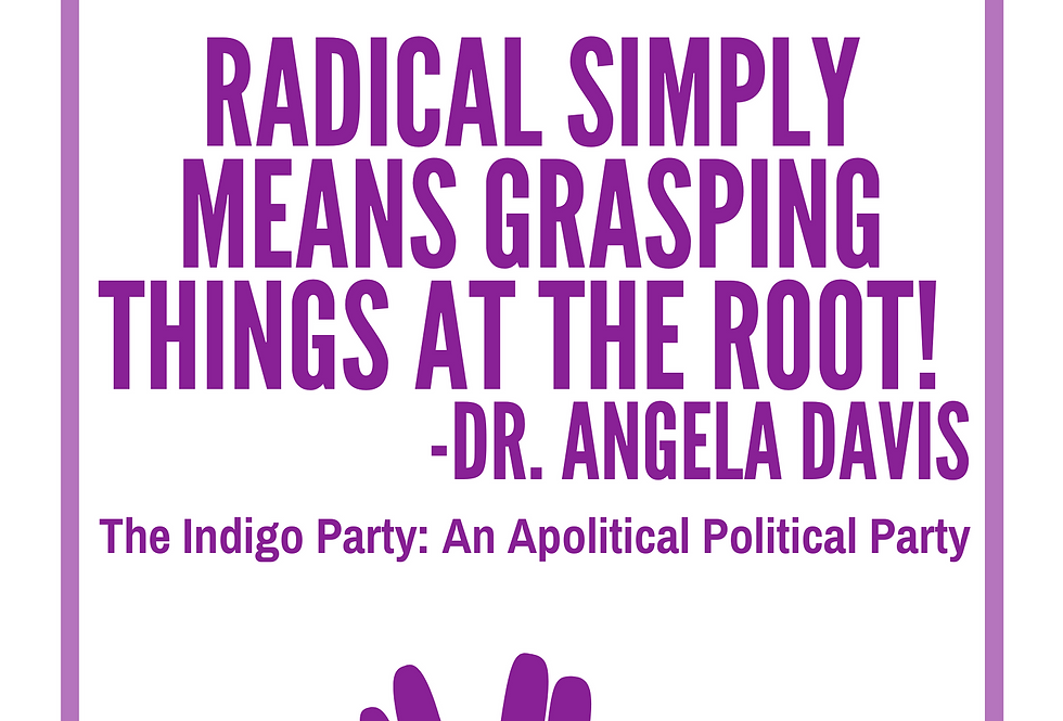 T-Shirt: Indigo Angela Davis Quote