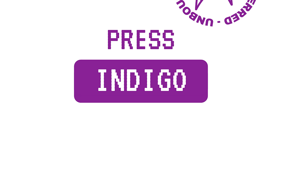 T-Shirt: PRESS Indigo white