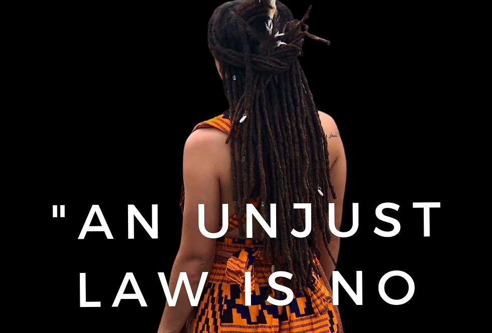 T-shirt: An unjust law is no law at all.