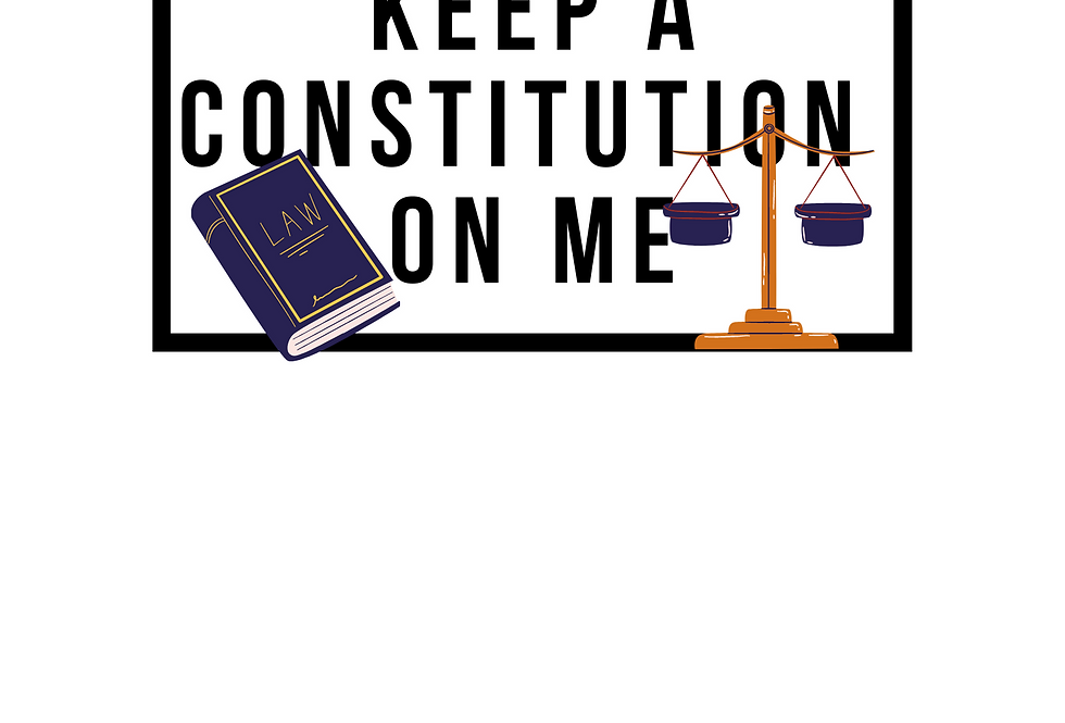 Minimal T-Shirt: KEEP A CONSTITUTION BOOK ON ME