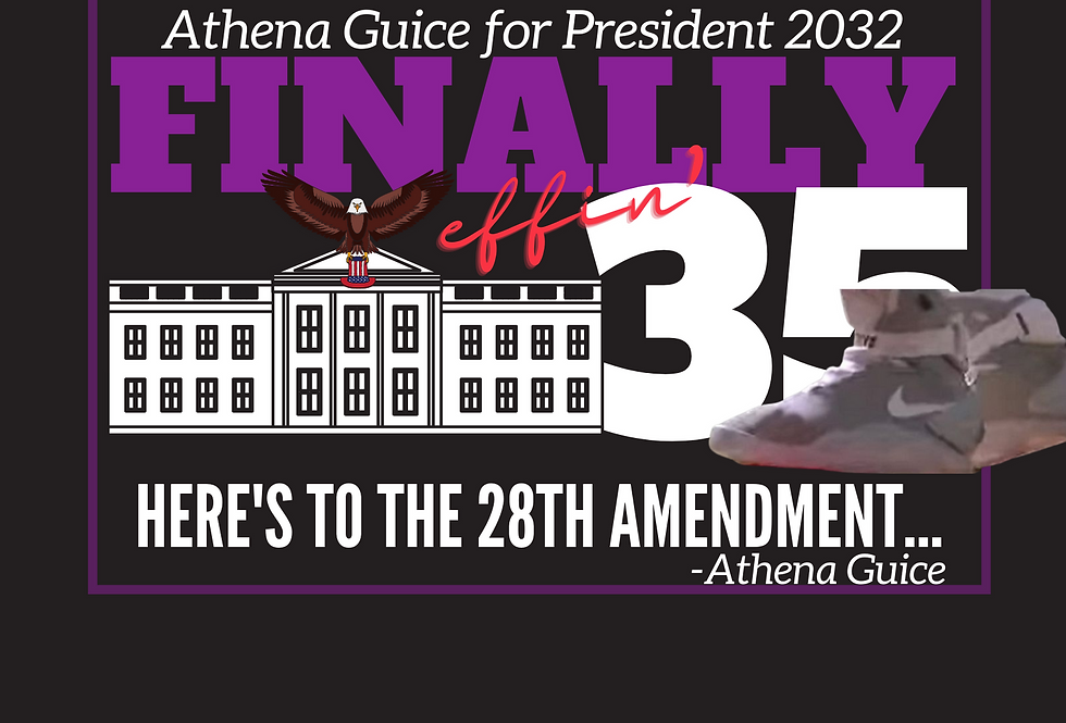 T-Shirt: Finally 35-  To the 28th Amendment