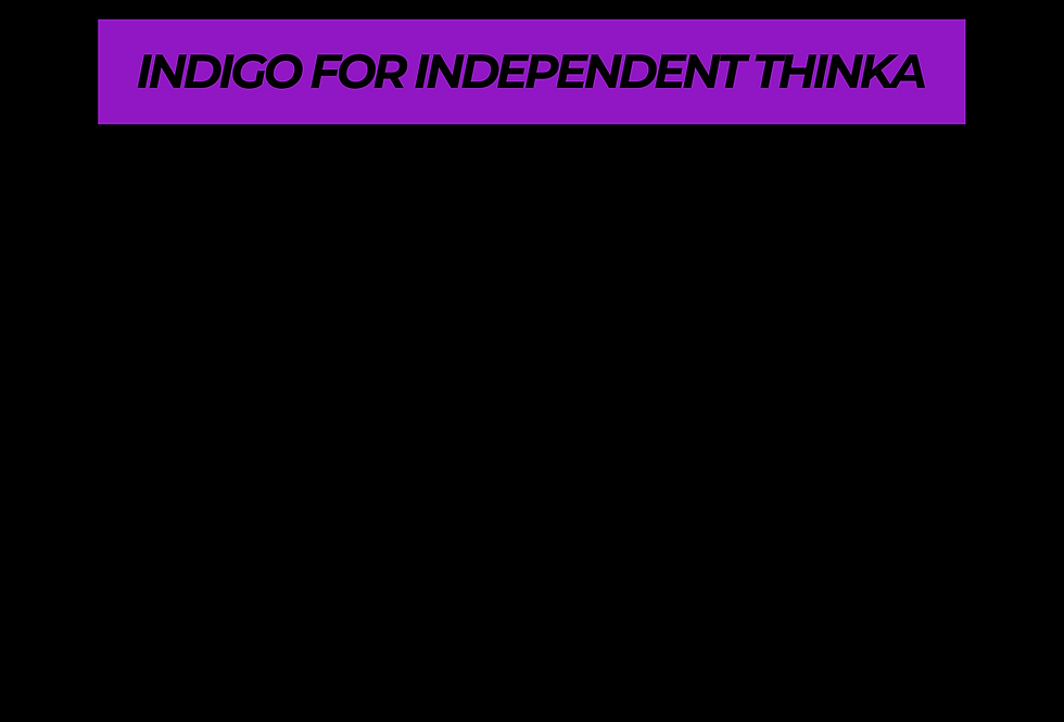 T-Shirt: PURPREME INDIGO FOR Independent Thinker