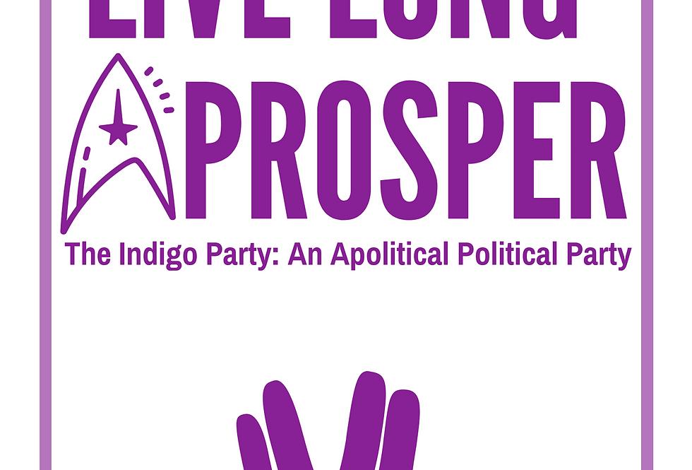 T-Shirt: Indigo Live Long and Prosper