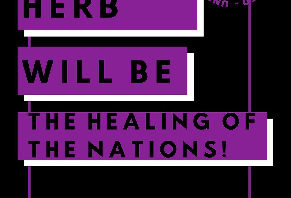 T-Shirt: HERB HEA;ING OF NATIONS SPLIFF