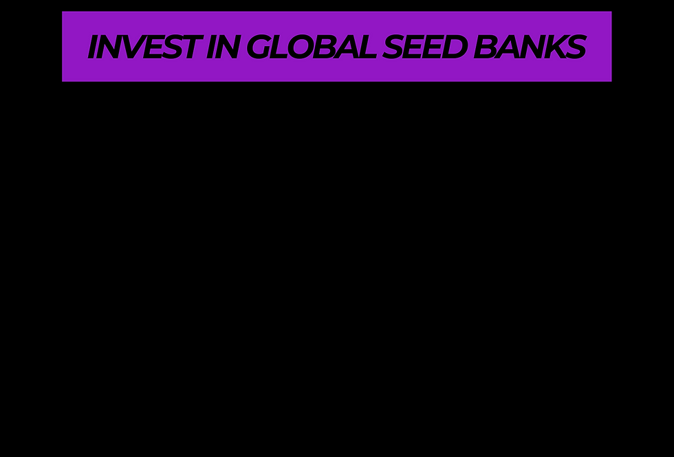 T-Shirt: Purpreme INVEST IN GLOBAL SEED BANKS