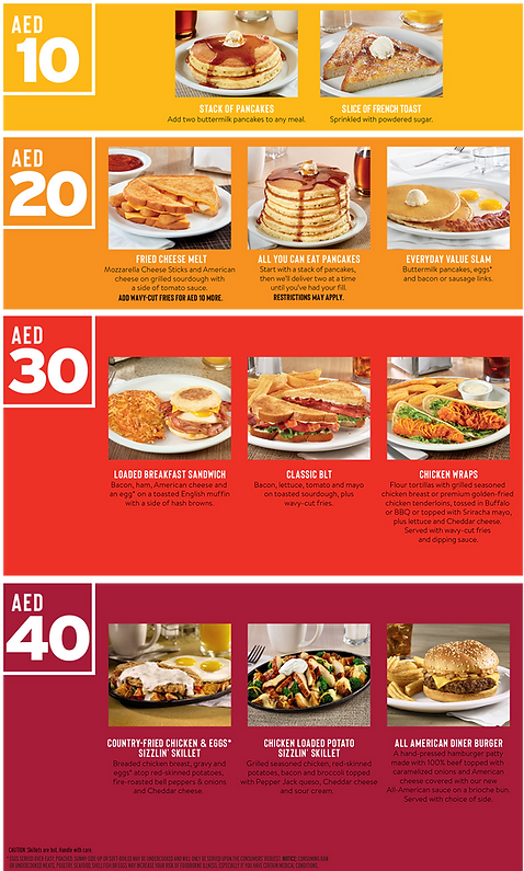 Denny's Value Menu Insert 23.2 x 41cm-2.