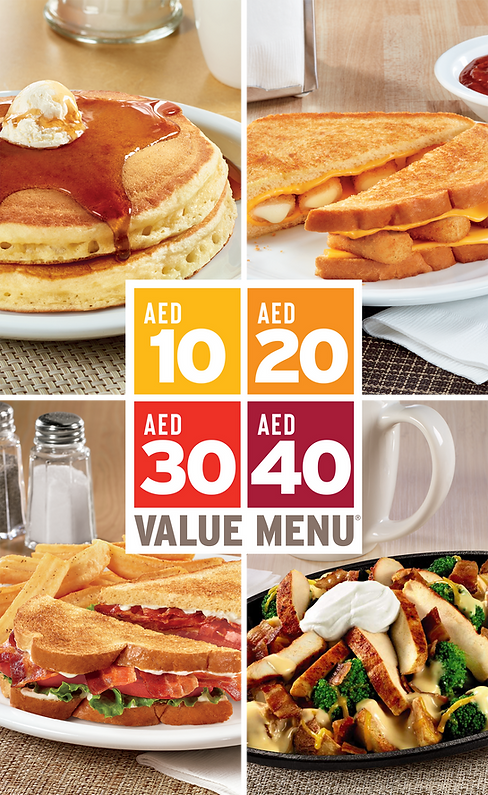 Denny's Value Menu Insert 23.2 x 41cm-1.