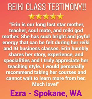 Reiki Class Testimony