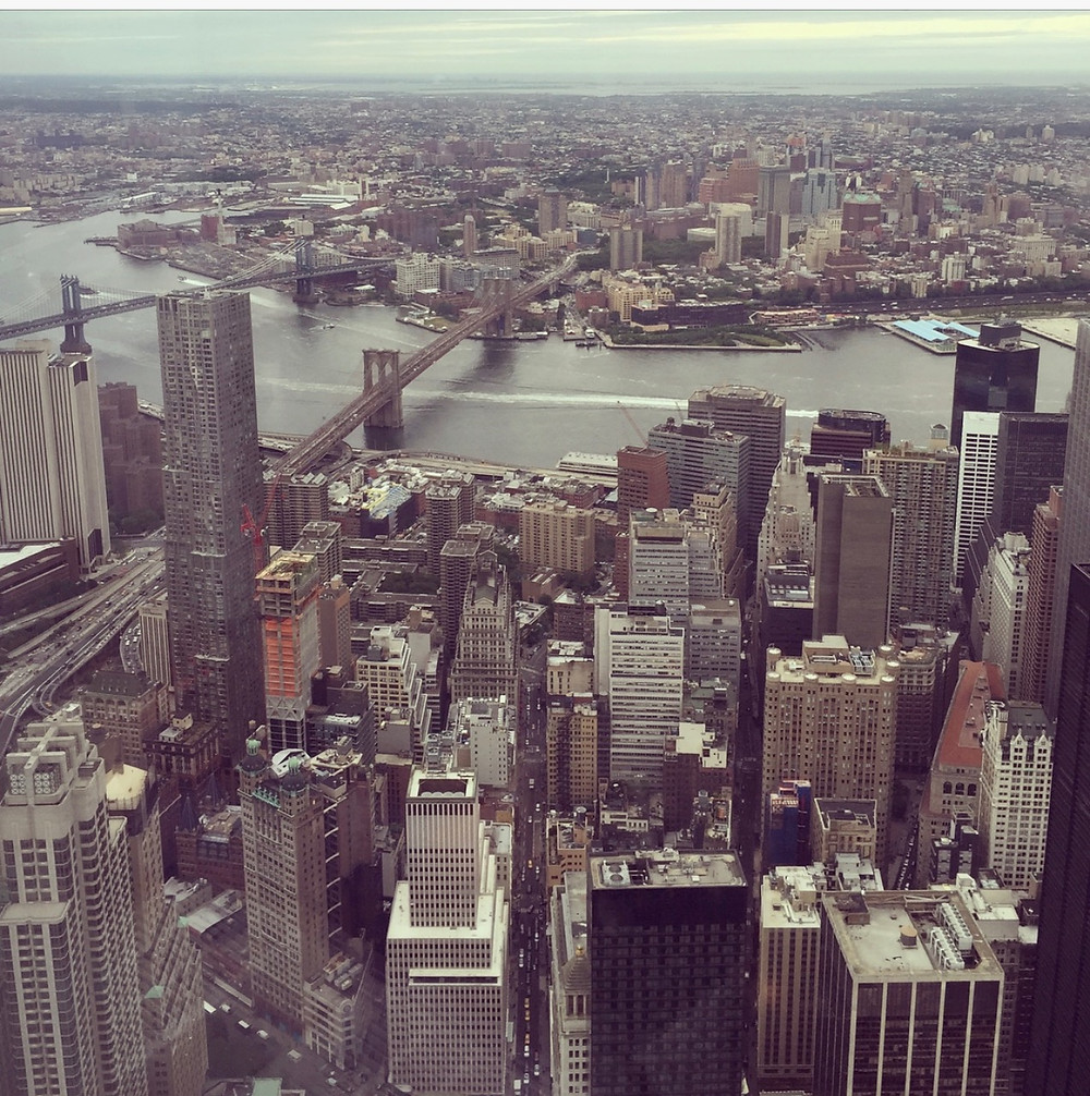 The view from the World Trade Center Observatory in New York City