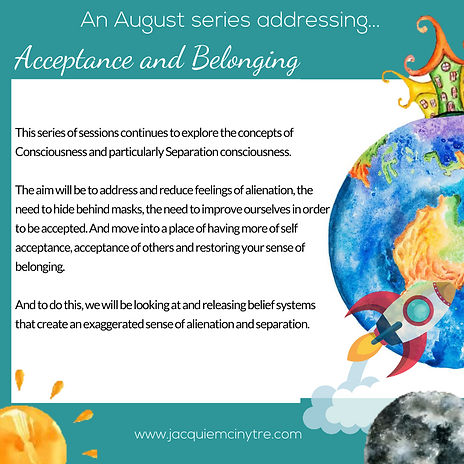 My Incredible Orbit Series of Sessions- August