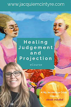 Healing judgement and projection video series- Jacquie McIntyre
