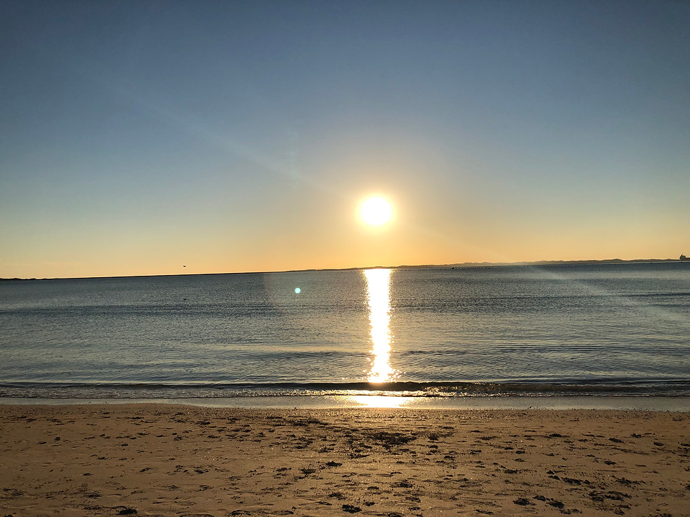 My first ocean sunset