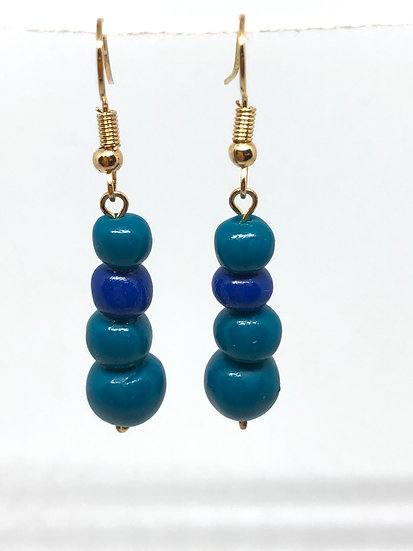 Teal and Blue bubble stack
